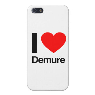 i love demure iPhone 5/5S cover