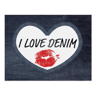 I Love Denim  Postcard