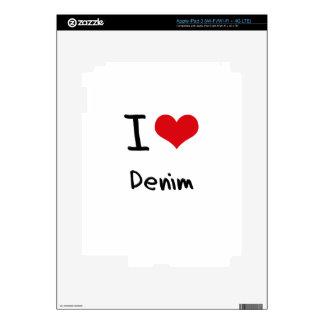I Love Denim iPad 3 Decal