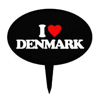 I LOVE DENMARK CAKE TOPPER