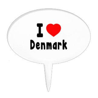 I Love Denmark. Cake Pick