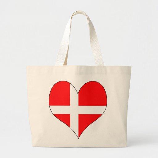 I Love Denmark Jumbo Tote Bag