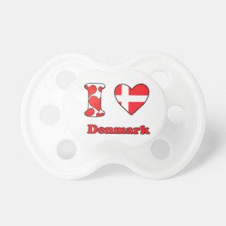 I love Denmark Baby Pacifier