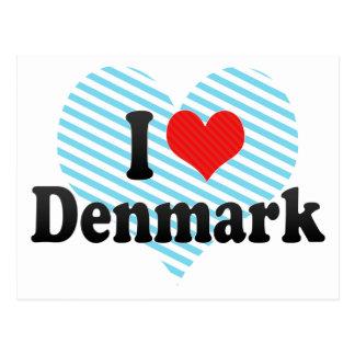 I Love Denmark Postcard