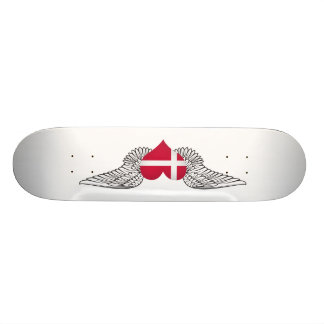 I Love Denmark -wings Skateboard