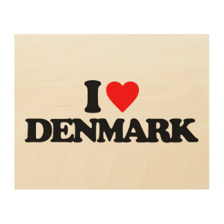 I LOVE DENMARK WOOD CANVAS