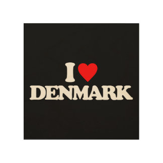 I LOVE DENMARK WOOD CANVASES