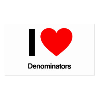 i love denominators Double-Sided standard business cards (Pack of 100)