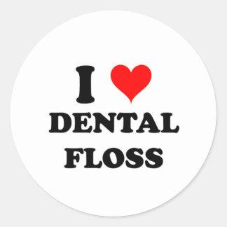 I Love Dental Floss Sticker
