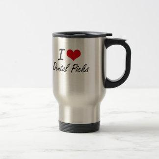 I love Dental Picks 15 Oz Stainless Steel Travel Mug