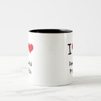 I Love Dental Picks Two-Tone Coffee Mug