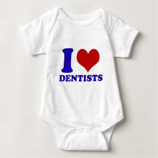 I Love dentists design Baby Bodysuit