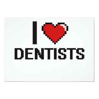"I love Dentists 5"" X 7"" Invitation Card"