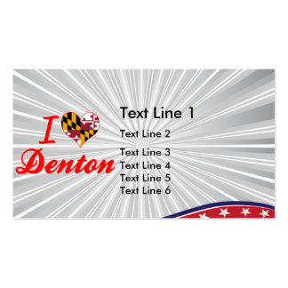I Love Denton, Maryland Double-Sided Standard Business Cards (Pack Of 100)
