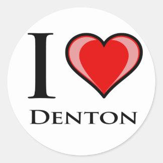 I Love Denton Stickers