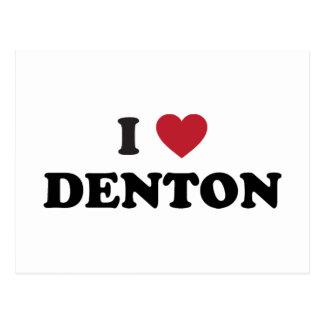 I Love Denton Texas Postcard