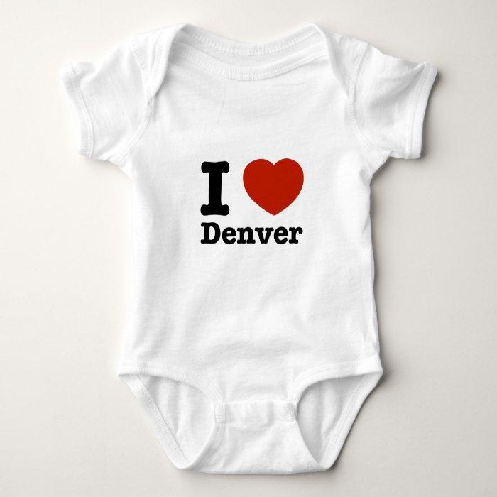 I Love denver Baby Bodysuit