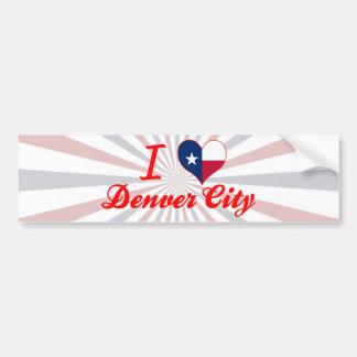 I Love Denver City, Texas Car Bumper Sticker