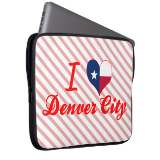 I Love Denver City, Texas Laptop Computer Sleeves