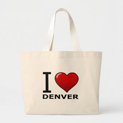 I LOVE DENVER,CO - COLORADO CANVAS BAG