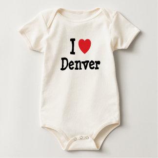 I love Denver heart custom personalized Baby Bodysuit