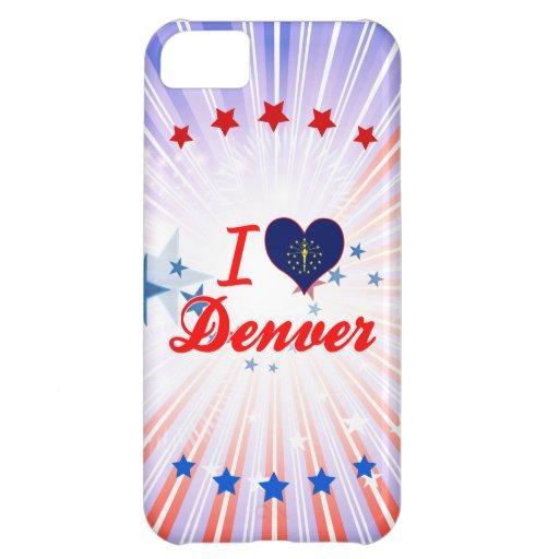 I Love Denver, Indiana Case For iPhone 5C