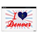 I Love Denver, Indiana Decals For Laptops