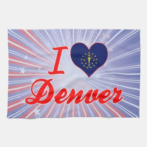 I Love Denver, Indiana Hand Towel