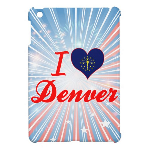 I Love Denver, Indiana iPad Mini Cover