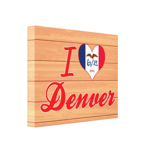 I Love Denver, Iowa Gallery Wrapped Canvas