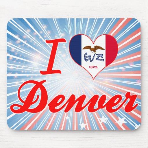 I Love Denver, Iowa Mouse Pad
