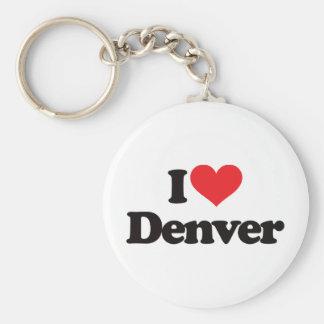 I Love Denver Key Chain