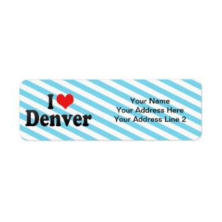 I Love Denver Label
