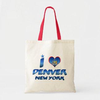 I love Denver, New York Canvas Bags