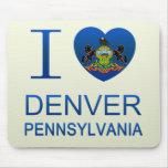 I Love Denver, PA Mousepad