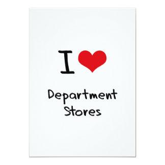 I Love Department Stores Personalized Invite