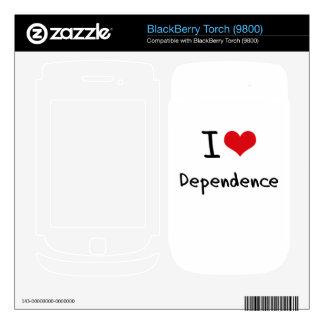 I Love Dependence BlackBerry Decals