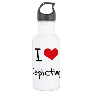 I Love Depicting 18oz Water Bottle