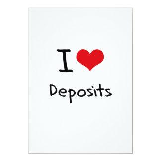 I Love Deposits 5x7 Paper Invitation Card