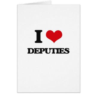 I love Deputies Greeting Card