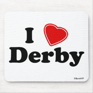 I Love Derby Mouse Pad