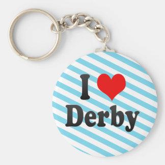 I Love Derby, United Kingdom Key Chains