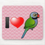 I Love Derbyan Parakeets Mouse Pad