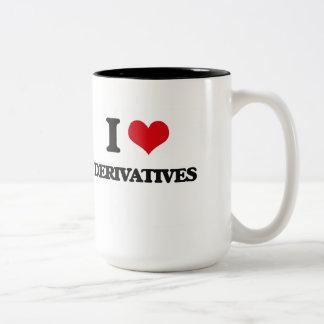 I love Derivatives Two-Tone Coffee Mug