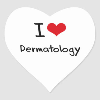 I Love Dermatology Heart Stickers