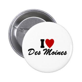 I Love Des Moines Button