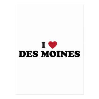 I Love Des Moines Iowa Postcard