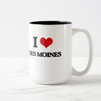 I love Des Moines Two-Tone Coffee Mug