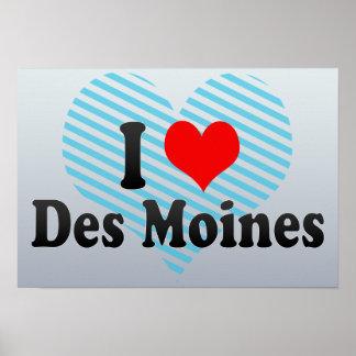 I Love Des Moines, United States Poster