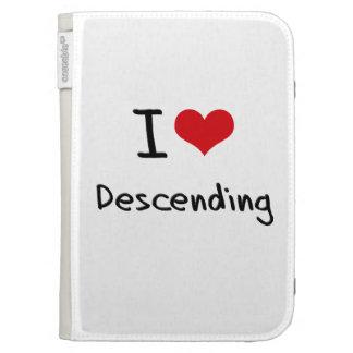 I Love Descending Kindle Folio Case